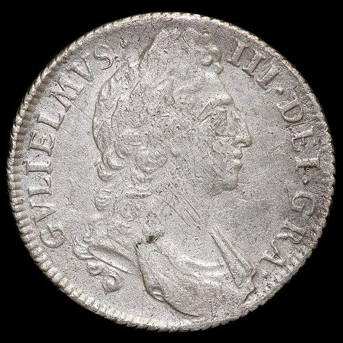 William III, 1694-1701. Shilling, 1696.