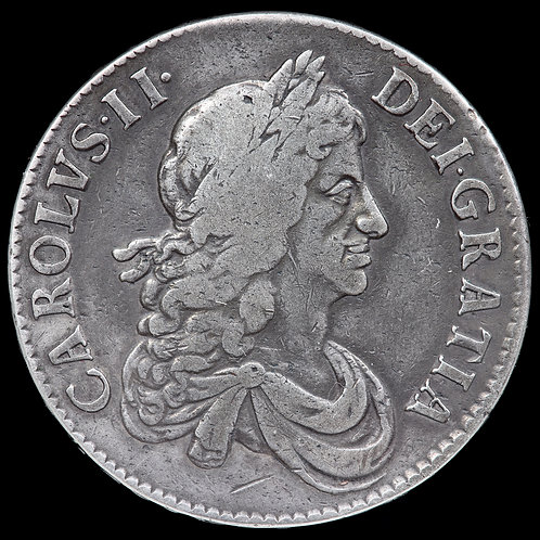 Charles II, 1660-1685. Crown, 1671. VICESIMO Edge.