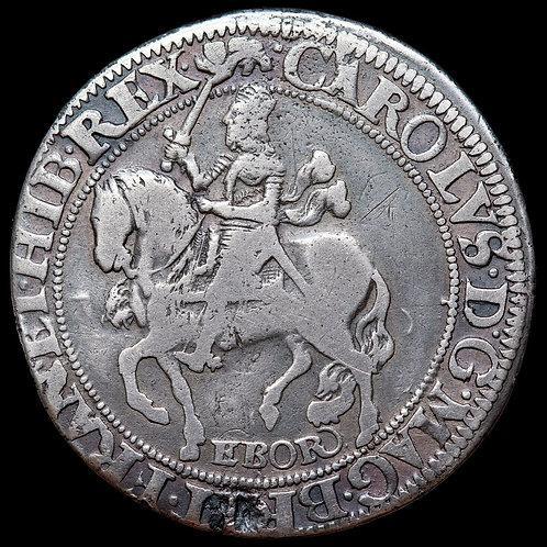 Charles I, 1625-49. Halfcrown, York mint. Group 2, type 7. Mint mark Lion.