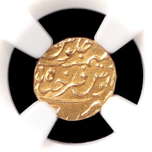 India, Princely States. Hyderabad, 1/8 Ashrafi, 1886 (AH1325). NGC Encapsulated.