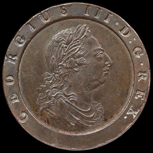 George III, 1760-1820. Twopence, 1797.