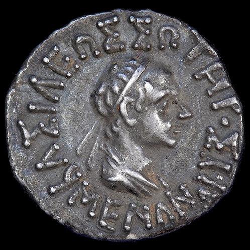 Indo-Greek, Bactria. Menander I, c.155-130 BC. AR Drachm.