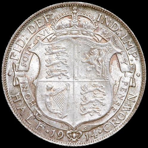 George V, 1911-36. Halfcrown, 1914.
