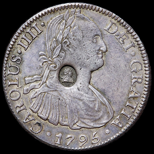 George III. Bank Of England Emergency Issue Countermarked Dollar, Issued 1797.