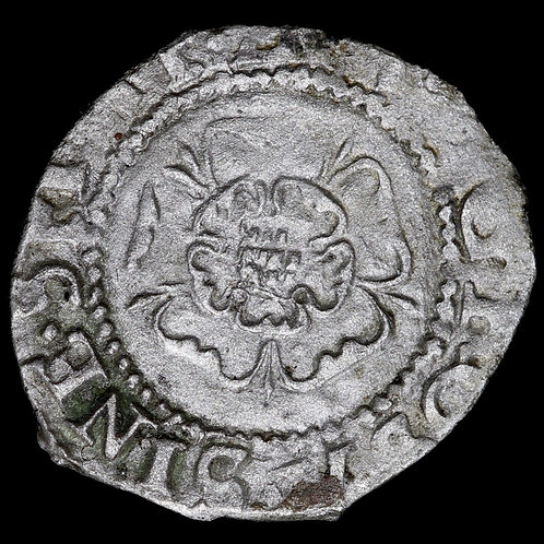 Edward VI. Base Silver Penny, mm. Rose, 1550-51. London Mint. Rose Issue.