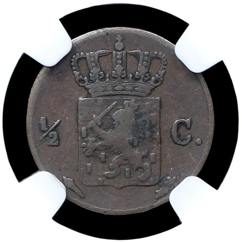Netherlands. Willem I, 1815-40. Half Cent, 1826. Utrecht Mint. NGC Encapsulated.