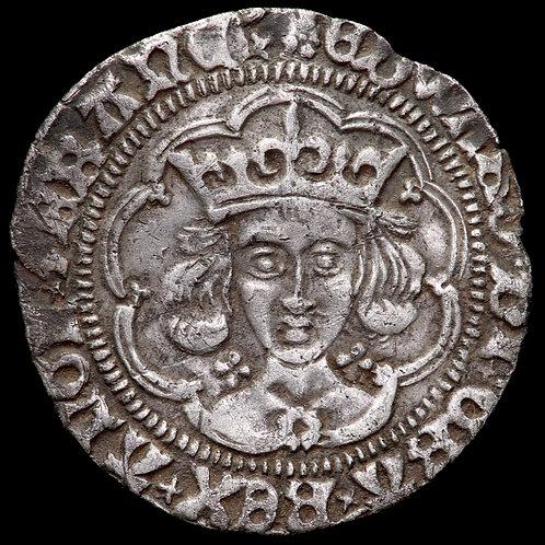 Edward IV, Second Reign, 1471-83. Groat, mm. Heraldic Cinquefoil, 1480-83.