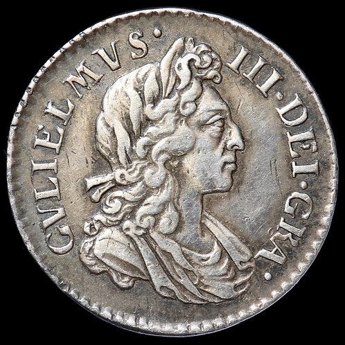 William III, 1689-1702. Maundy Threepence, 1699.