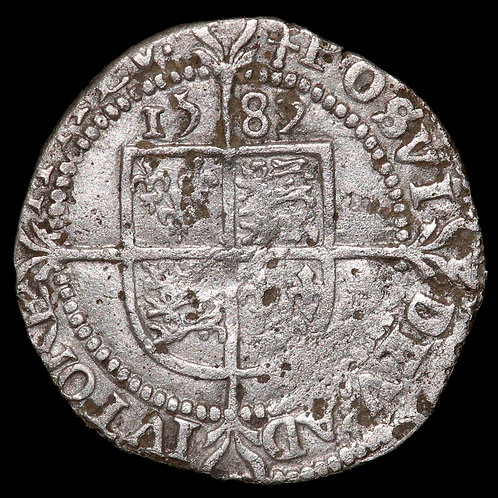 Elizabeth I, 1558-1603. Threepence, 1582. Fifth Issue. Tower Mint, mm. Sword.