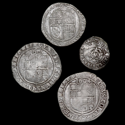 James I, 1603-25. Sixpences And Halfgroat. (4 Coins)