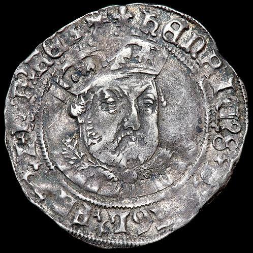 Henry VIII, 1509-47. Groat, mm. Lis Each Side. Tower Mint.