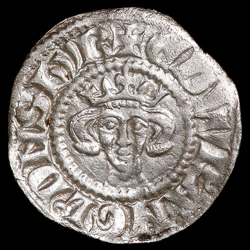 Edward I, 1272-1307. Penny. Long Cross Type. New Coinage from 1279. York Mint.
