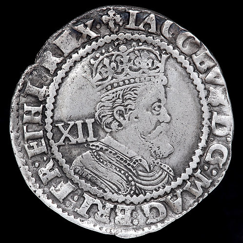 James I, 1603-25. Shilling, 3rd Coinage, mm. Trefoil, 1624.