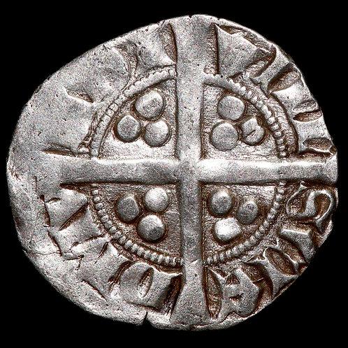 Edward II, 1307-27. Penny. Long Cross Type. Class 14. Bury St Edmunds Mint.