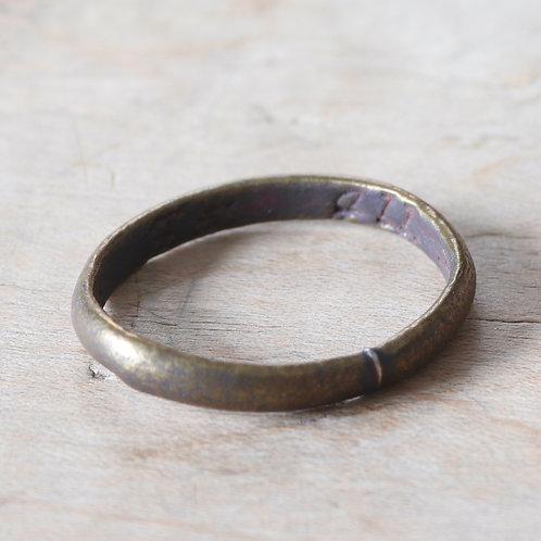 "Georgian Brass Finger Ring, c.1780. Engraved ""Love Is All x""."