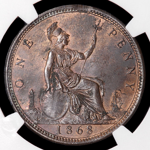 Victoria, 1837-1901. Penny, 1868. Scarce. NGC Encapsulated.