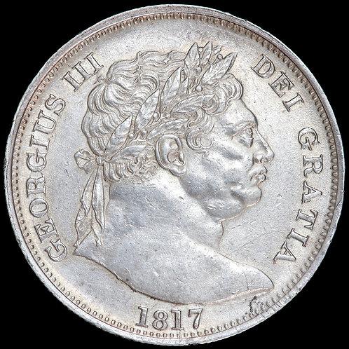 George III, 1760-1820. Halfcrown, 1817. 'Bullhead' Type.