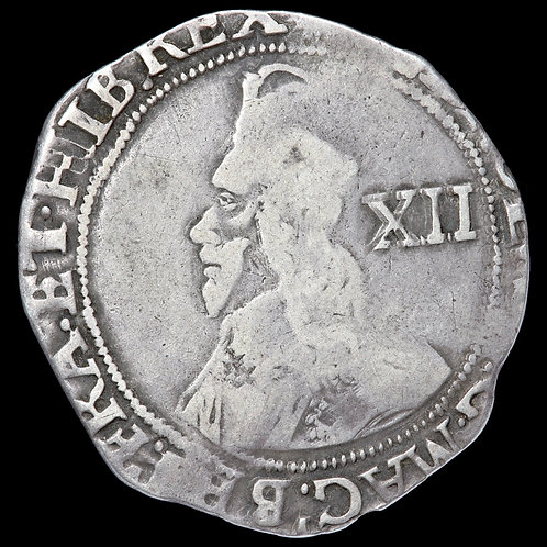 Charles I, 1625-49. Shilling, mm. Sun, 1645-6. Tower Mint Under Parliament.