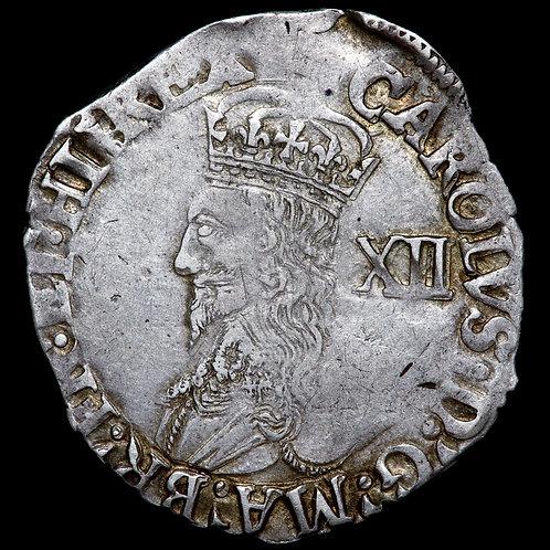 Charles I, 1625-46. Shilling, mm. Tun1636-8. Tower Mint.
