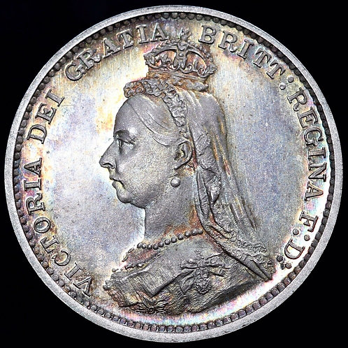 Victoria. Proof Silver Threepence 3d, 1887.