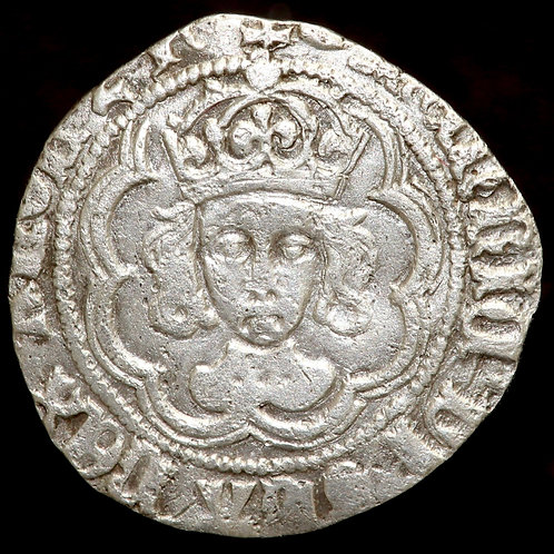 Henry VII, 1485-1509. Halfgroat. Class IIIc. Canterbury Mint, mm. Tun.