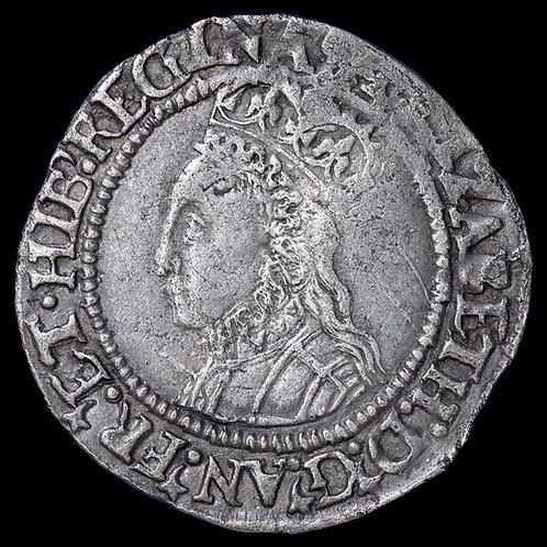 Elizabeth I, 1558-1603. Halfgroat, mm. Martlet, 1560-61. 2nd Issue.