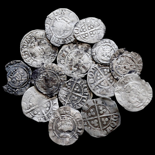 Medieval Halfpennies And Farthings, 13/14th Century. (14 Coins)