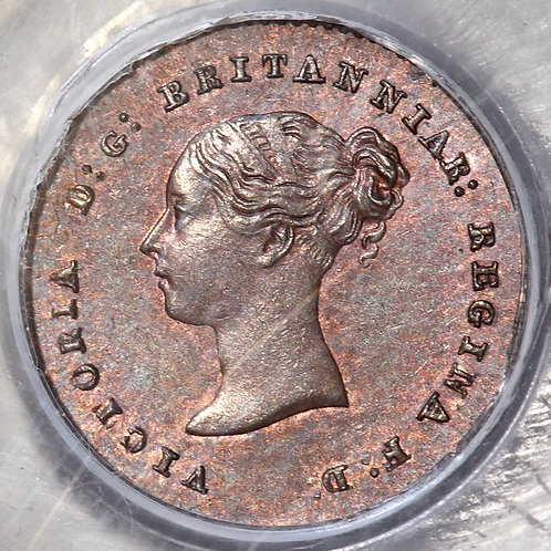 Victoria, 1837-1901. Quarter Farthing, 1852. Doubled 2. CGS Encapsulated.