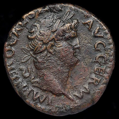 Nero, 54-68 A.D. AE As 25mm. Temple Of Janus Reverse. Rome Mint.