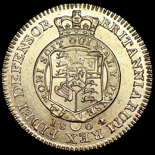 George III, 1760-1820. Gold Half Guinea, 1804. Military Type.