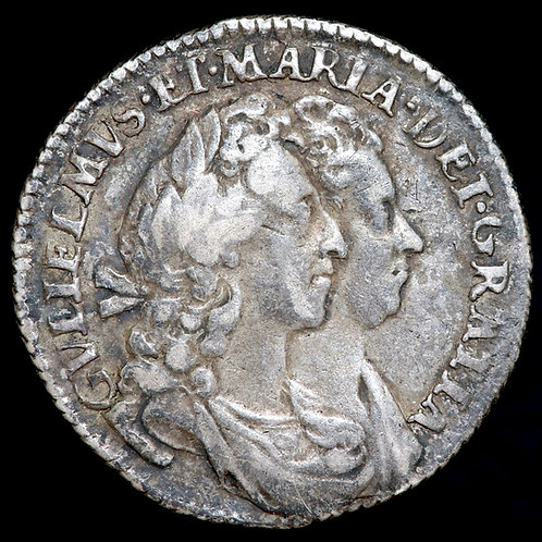 William And Mary, 1689-94. Sixpence, 1693.