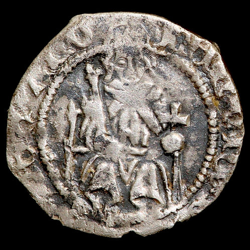 Henry VII, 1485-1509. Penny, Sovereign Type. York Mint. Archbishop Rotherham.