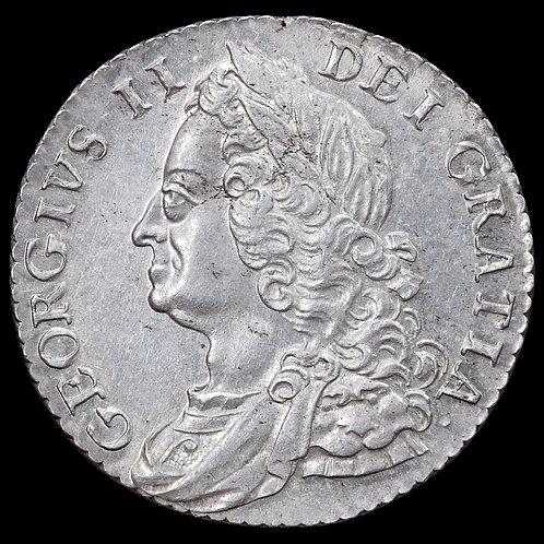 George II, 1727-60. Shilling, 1758.