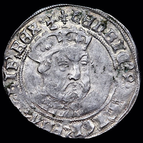 Henry VIII, 1509-47. Hammered Groat, Mint Mark Lis, 1544-7.