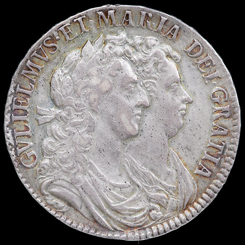 William And Mary, 1689-1694. Halfcrown, 1689. PRIMO Edge.