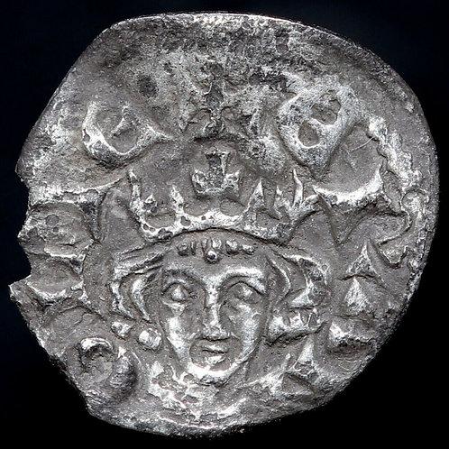 Edward I, 1272-1307. Silver Farthing. Newcastle Mint. Extremely Scarce.
