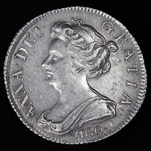 Queen Anne, 1702-14. Sixpence, 1703. VIGO.