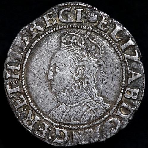 Elizabeth I, 1558-1603. Shilling, mm. Tun, 1592-5. Scarce.