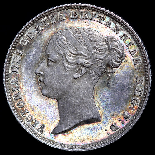 Victoria, 1837-1901. Proof Sixpence, 1853.