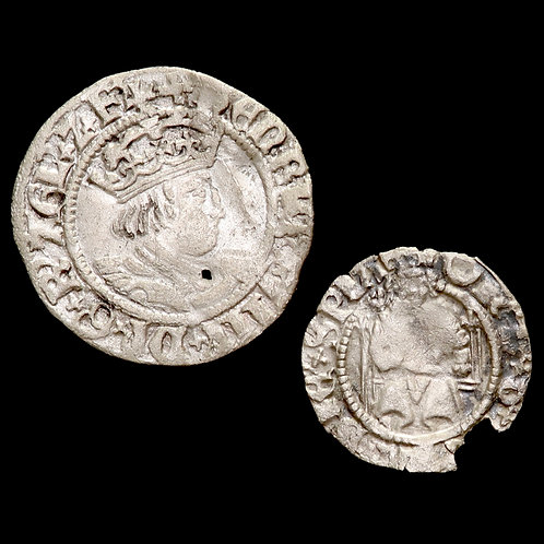 Henry VIII, 1509-47. Halfgroat And Penny. (2 Coins)