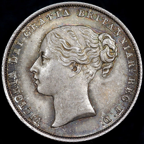 Victoria. Shilling, 1842. Young Head.