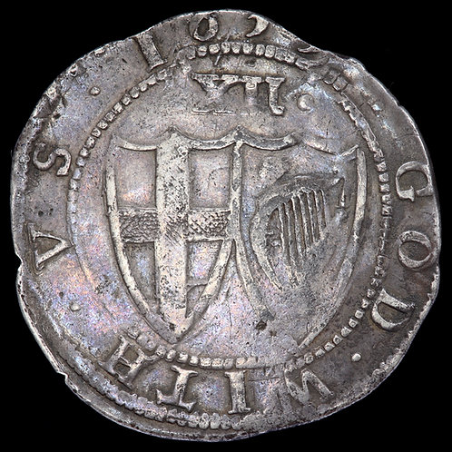 The Commonwealth Under Oliver Cromwell, 1649-60. Shilling, 1653, mm. Sun.