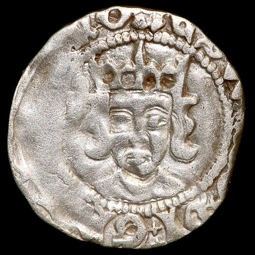 Edward IV, Second Reign, 1471-83. Penny. Durham Mint, mm. Rose.