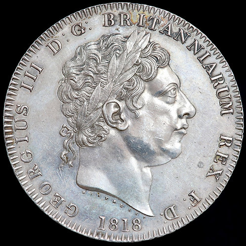 George III, 1760-1820. Crown, 1818. LIX Edge.