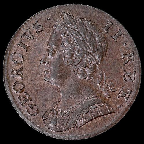 George II, 1727-60. Halfpenny, 1752. Trace Lustre.