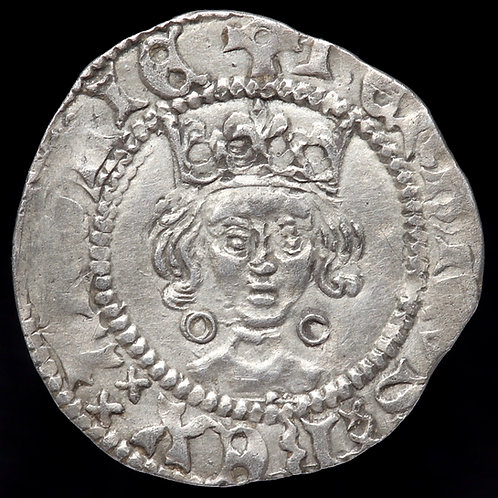Henry VI, First Reign, 1422-61. Penny, mm. Pierced Cross, 1422-27. Calais Mint.