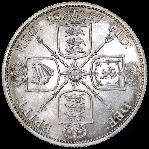 Victoria, 1837-1901. Proof Florin, Two Shillings, 1887.
