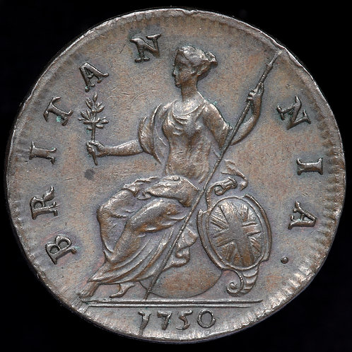 George II, 1727-1760. Halfpenny, 1750.
