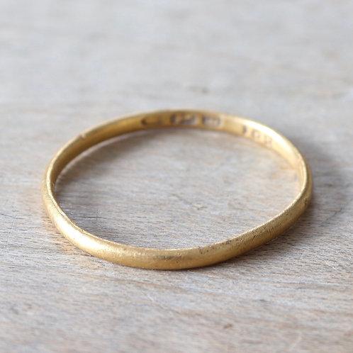 George III Hallmarked Gold Finger Ring, 1780.