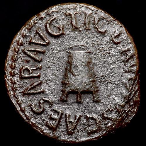 Roman Empire. Claudius I, 41-54 A.D. AE Quadrans. Rome Mint, 41 A.D.